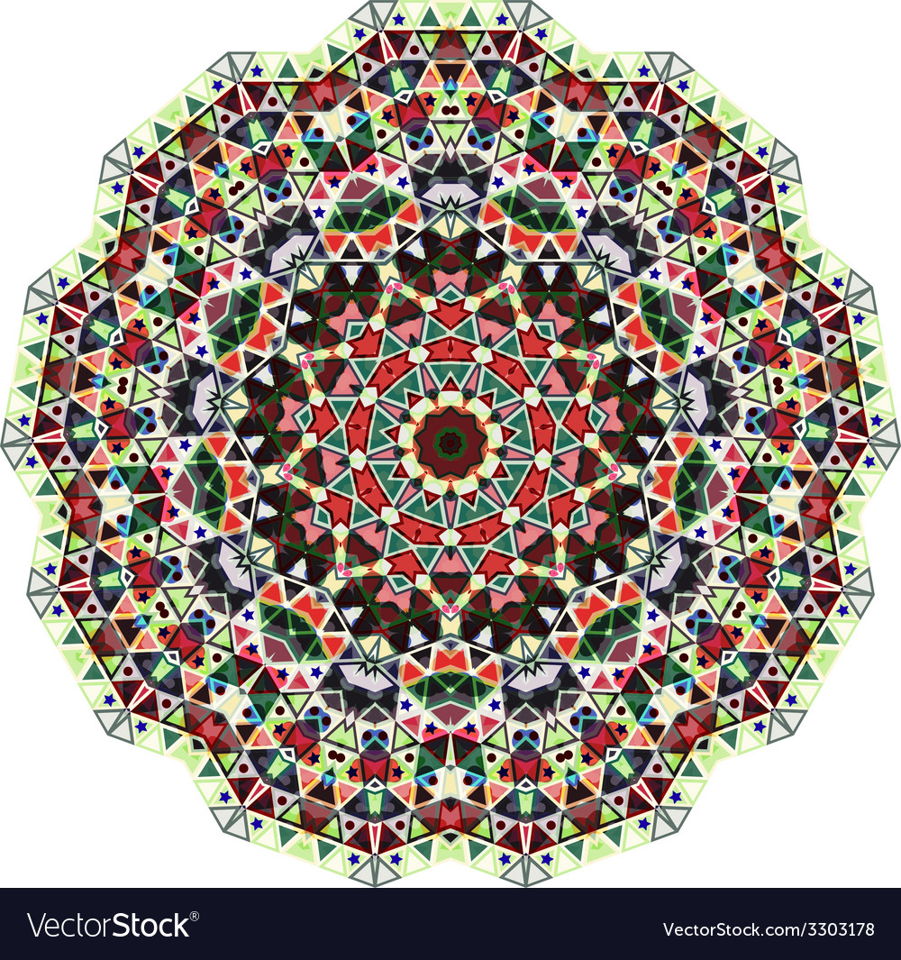 Triangular ornamental round lace vector | Price: 1 Credit (USD $1)