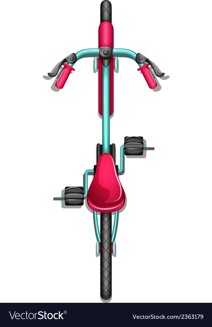 A topview of a bike vector | Price: 1 Credit (USD $1)