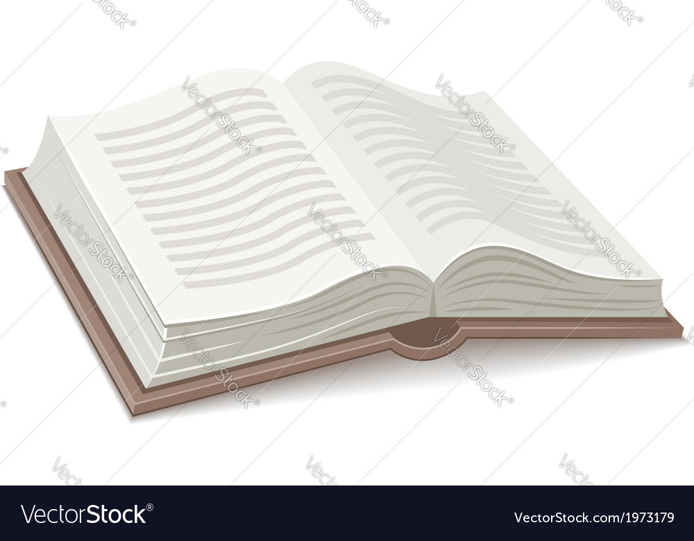 Book with open spread vector | Price: 1 Credit (USD $1)