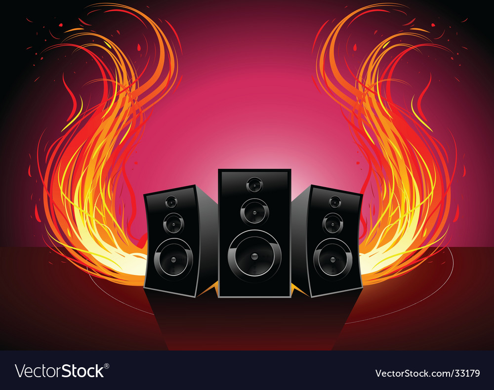 Burn music vector | Price: 1 Credit (USD $1)