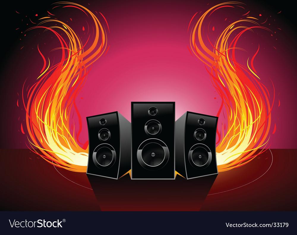 Burn music vector | Price: 1 Credit (USD $1)