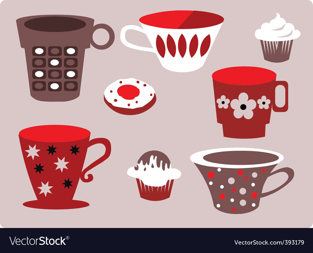 Coffee and cupcakes vector | Price: 1 Credit (USD $1)