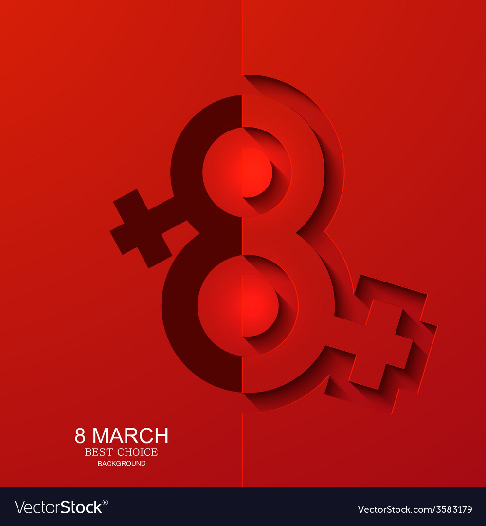 Modern 8 march background womens day vector | Price: 1 Credit (USD $1)