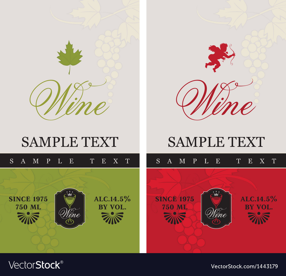 Red and white wine vector | Price: 1 Credit (USD $1)