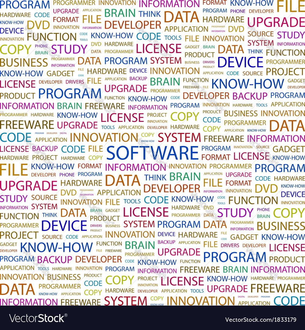 Software vector | Price: 1 Credit (USD $1)
