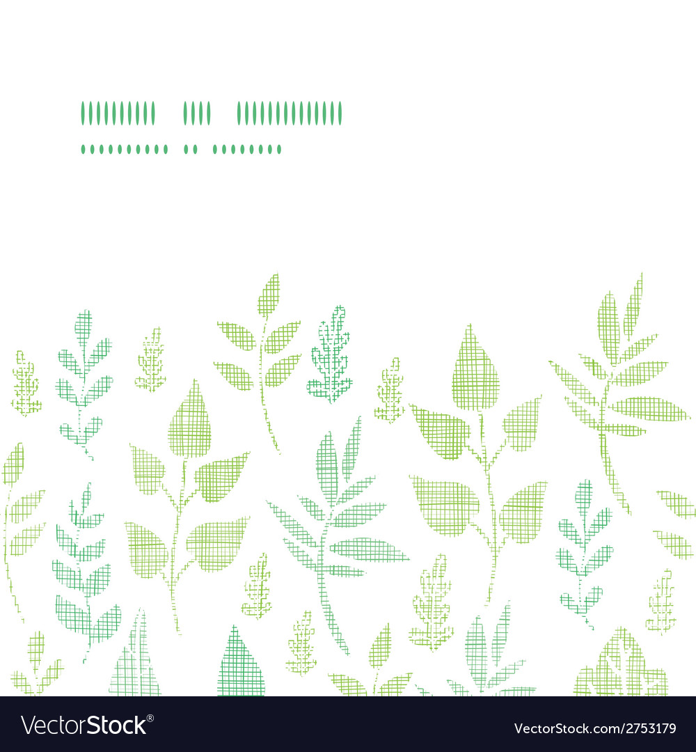 Textile textured spring leaves horizontal frame vector   Price: 1 Credit (USD $1)