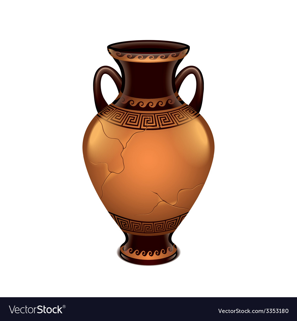 Ancient vase isolated vector | Price: 3 Credit (USD $3)