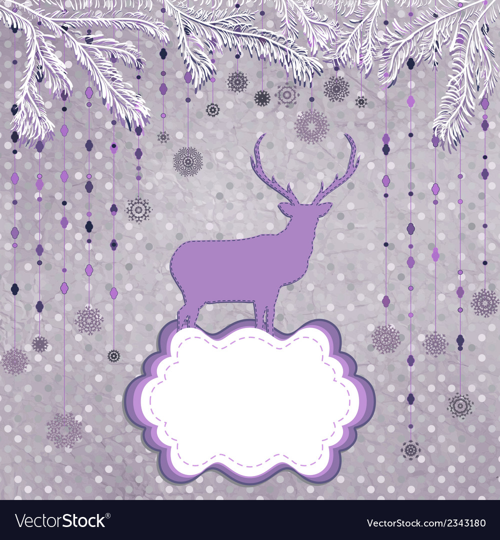 Christmas deer and snowflake eps 8 vector | Price: 1 Credit (USD $1)