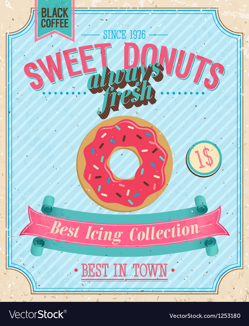 Donut color vector | Price: 3 Credit (USD $3)
