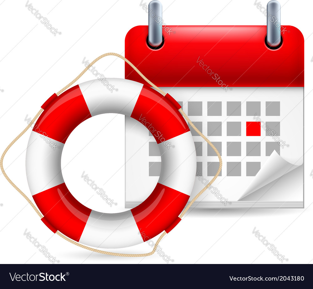 Flotation ring and calendar vector | Price: 1 Credit (USD $1)