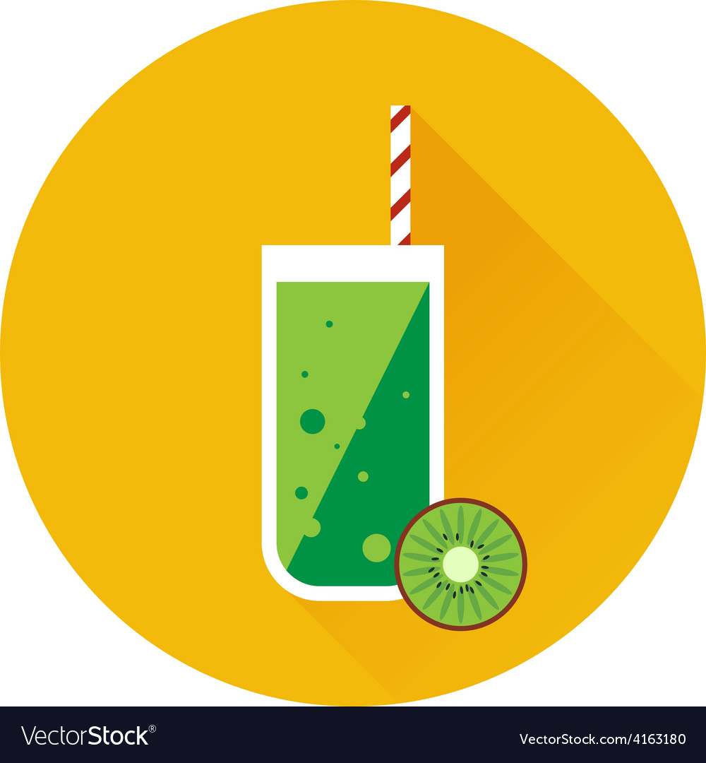 Kiwi shake or juice icon vector | Price: 1 Credit (USD $1)