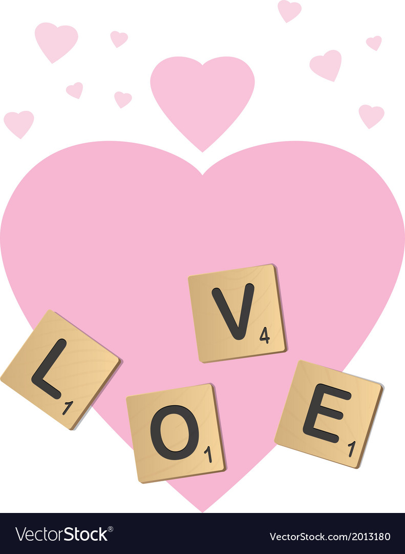 Love scrabble vector | Price: 1 Credit (USD $1)