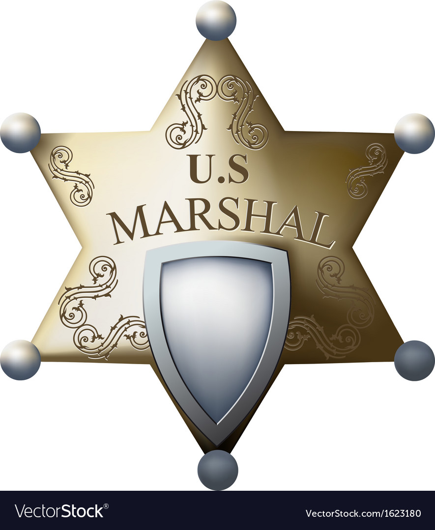 Marshals badge vector | Price: 1 Credit (USD $1)