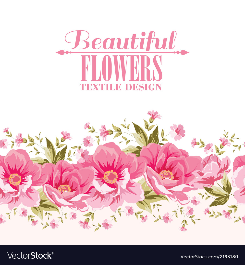 Ornate pink flower decoration with text label vector | Price: 1 Credit (USD $1)