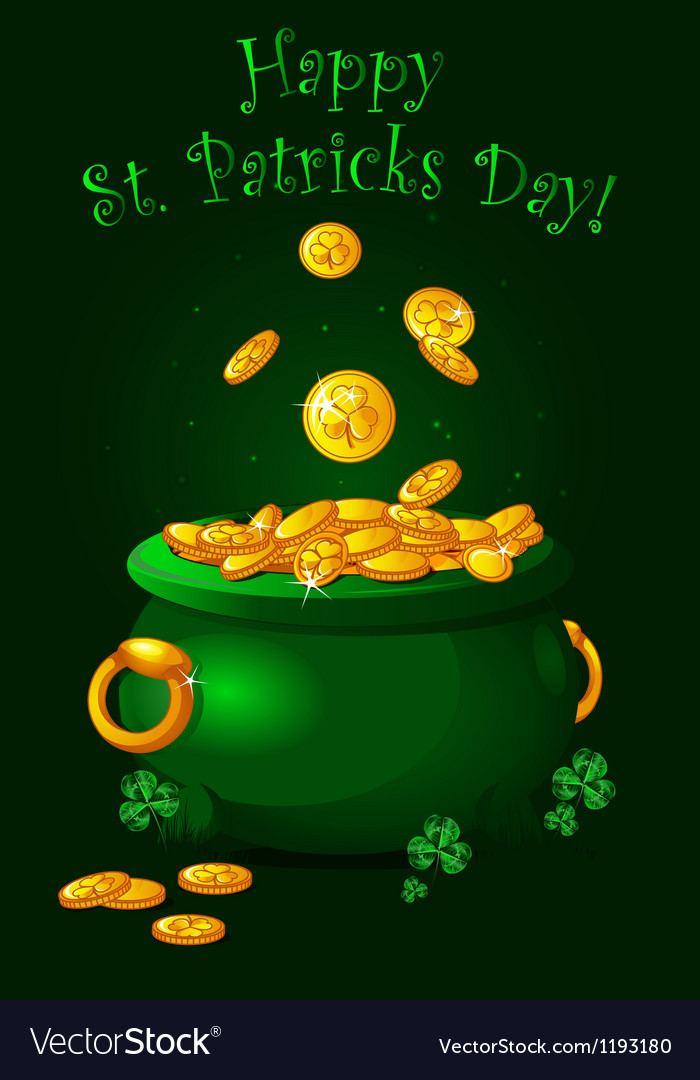 Pot of gold background vector | Price: 1 Credit (USD $1)