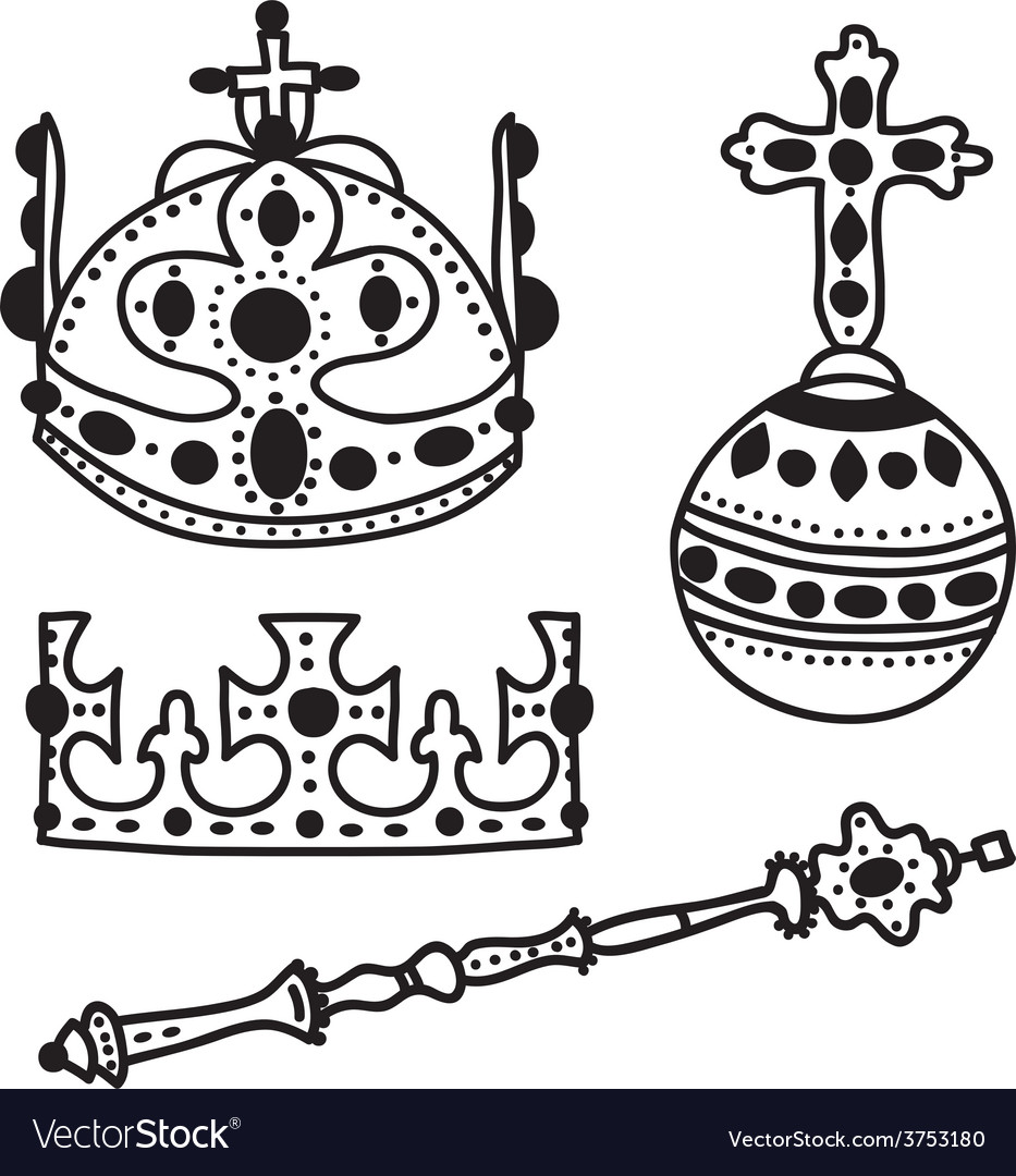 Set of crown jewels vector | Price: 1 Credit (USD $1)