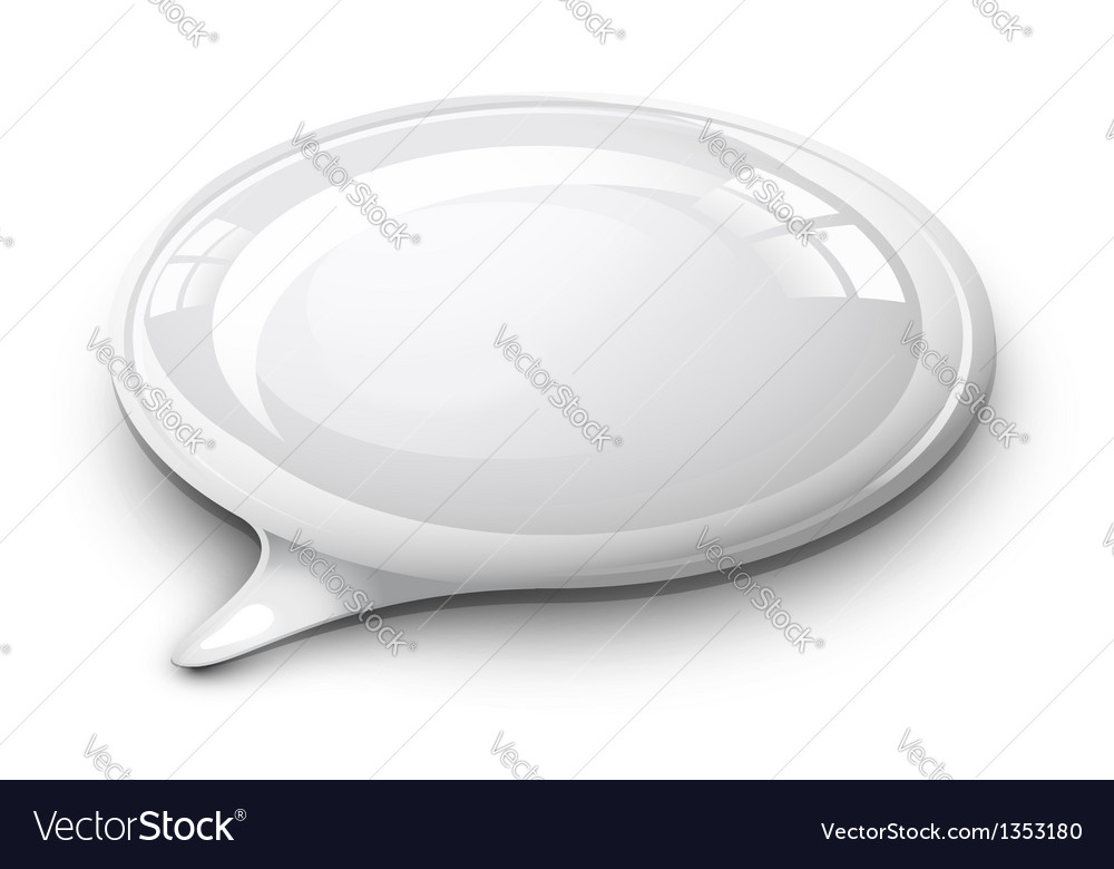 Speech bubble white vector | Price: 1 Credit (USD $1)
