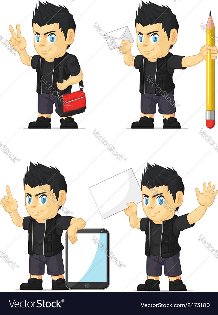 Spiky rocker boy customizable mascot 18 vector | Price: 1 Credit (USD $1)