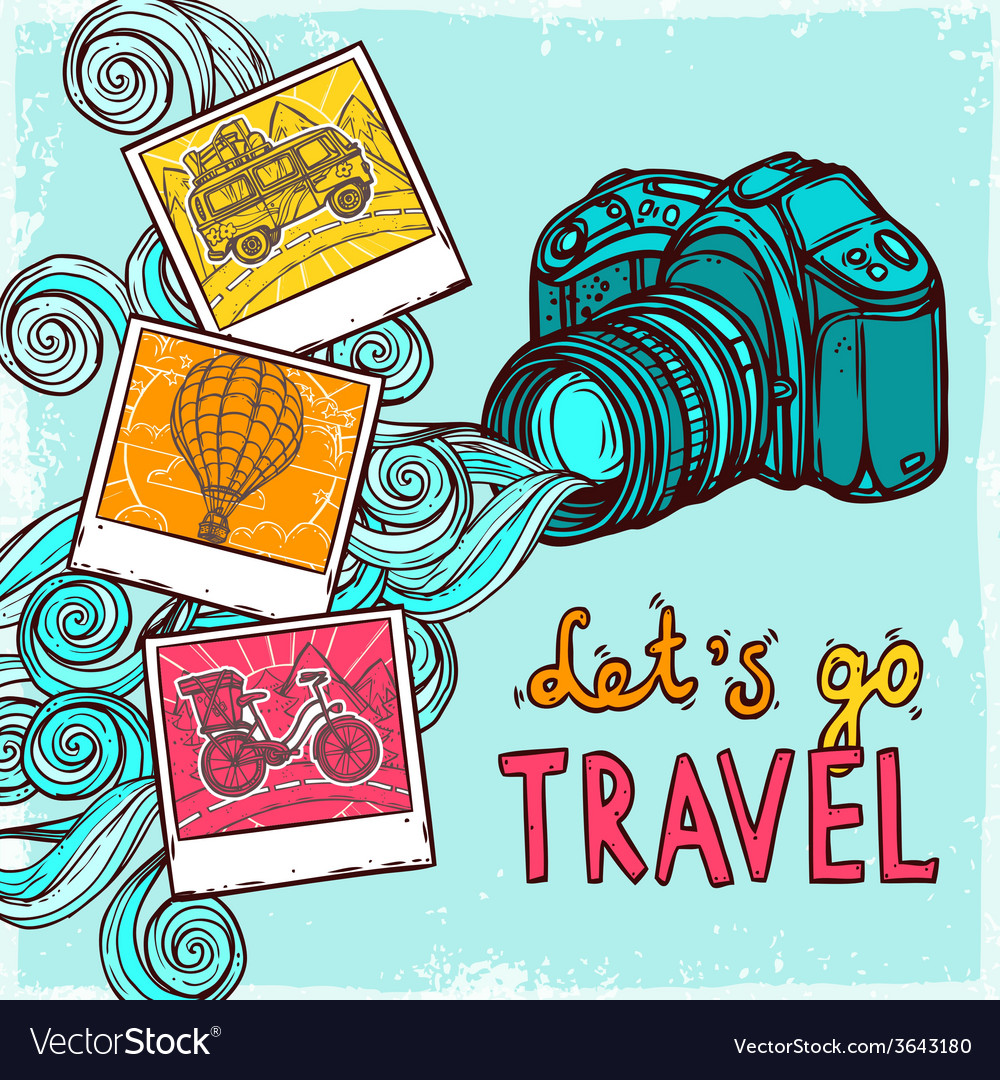 Vacation photo background vector | Price: 1 Credit (USD $1)