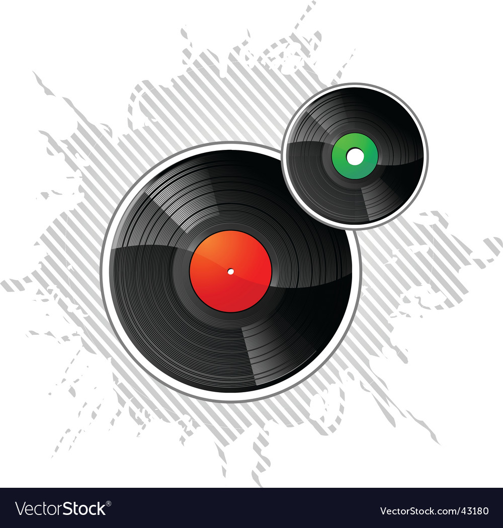 Vinyl disks vector | Price: 1 Credit (USD $1)