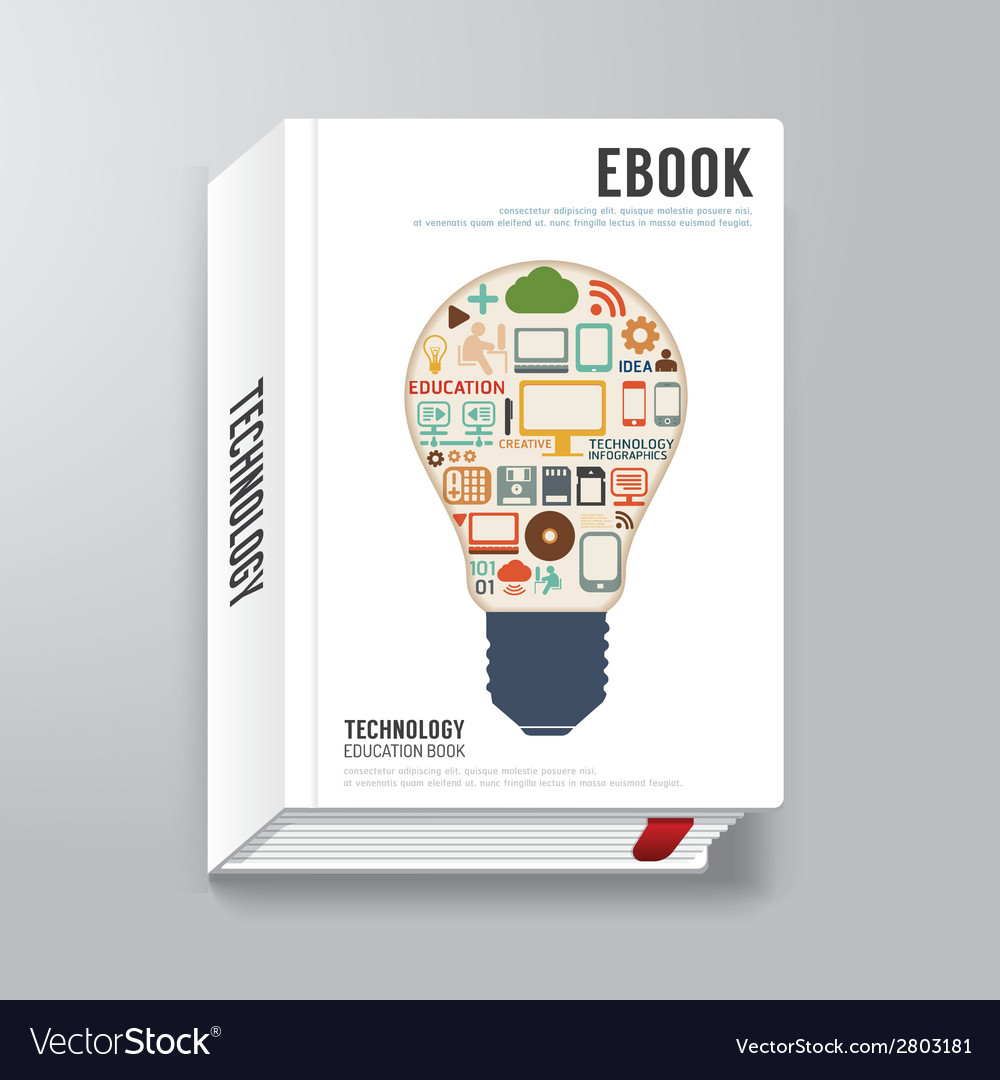 Book cover digital design minimal style template vector | Price: 1 Credit (USD $1)