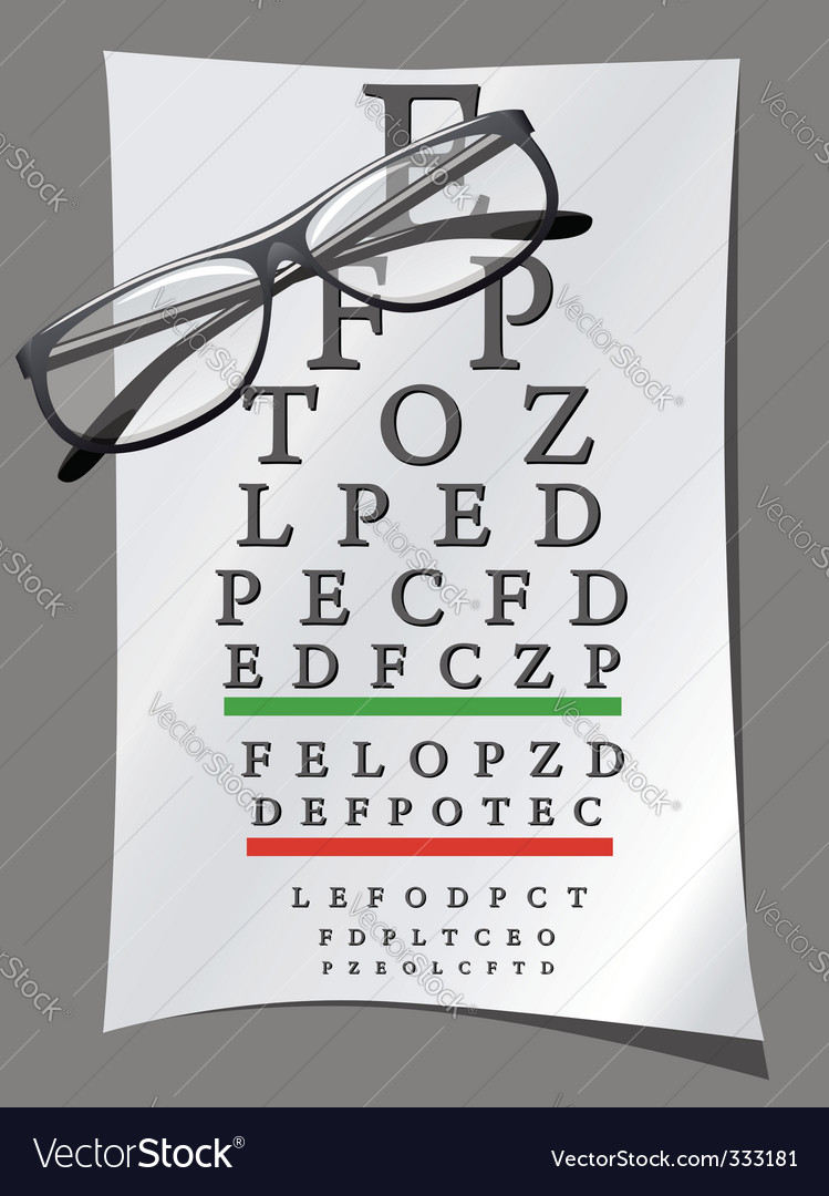 Eye charts and glasses vector | Price: 3 Credit (USD $3)