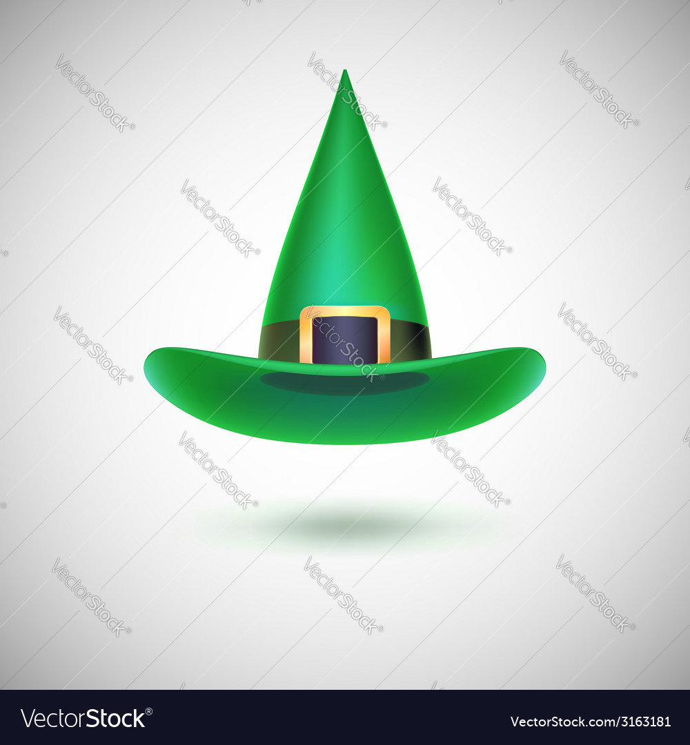 Green witch hat for halloween vector | Price: 1 Credit (USD $1)
