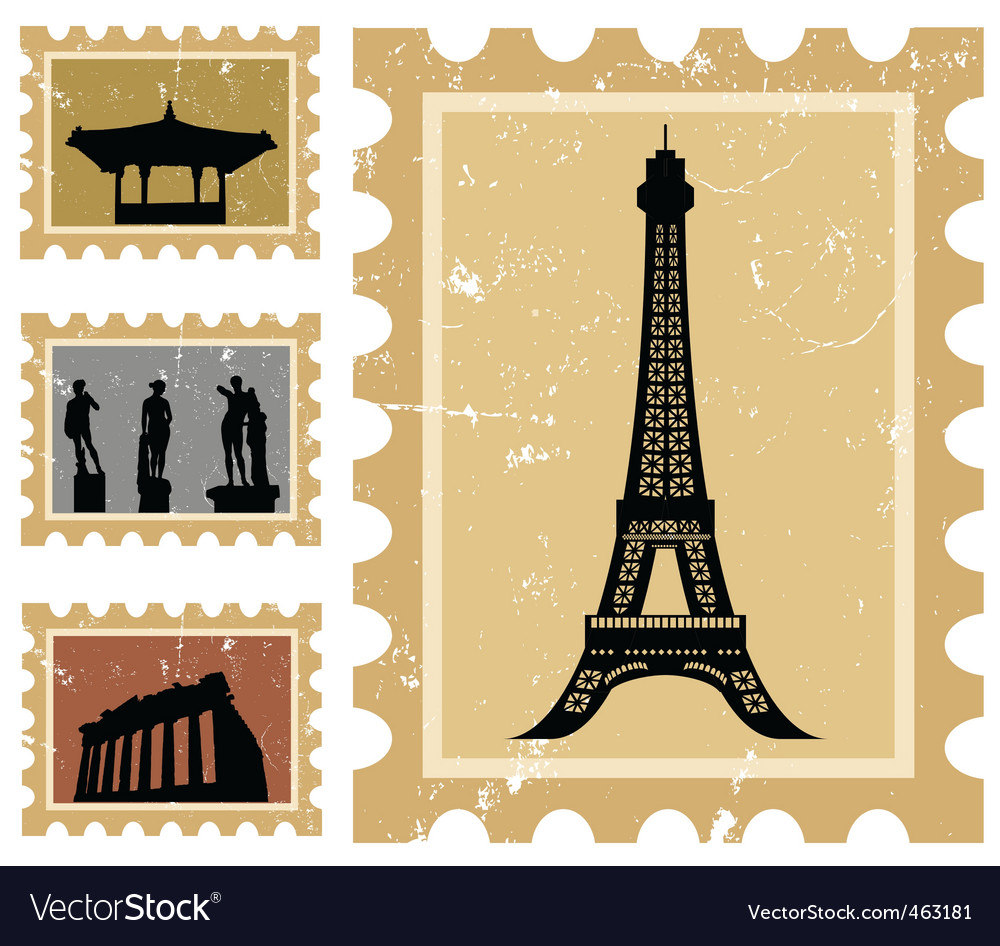 Historical stamps vector | Price: 1 Credit (USD $1)