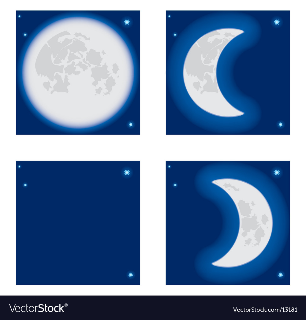 Moon phase vector | Price: 1 Credit (USD $1)