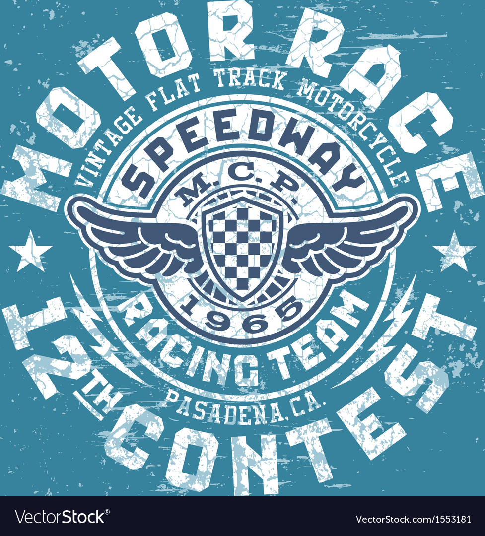 Motor race contest vector | Price: 1 Credit (USD $1)
