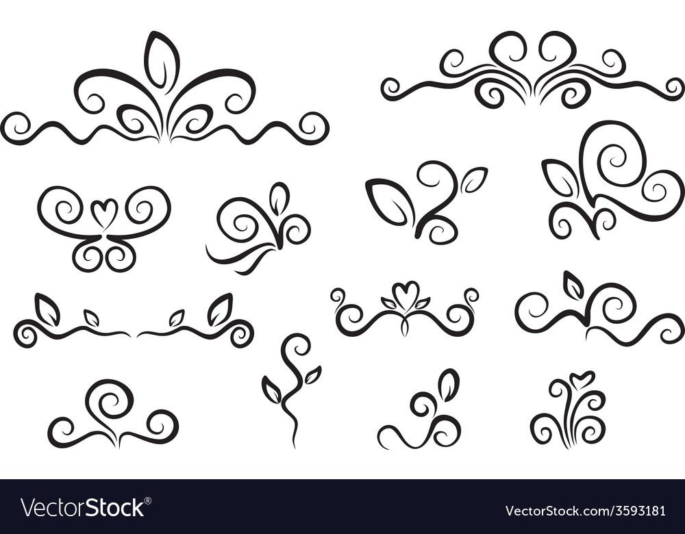 Ornaments set vector   Price: 1 Credit (USD $1)