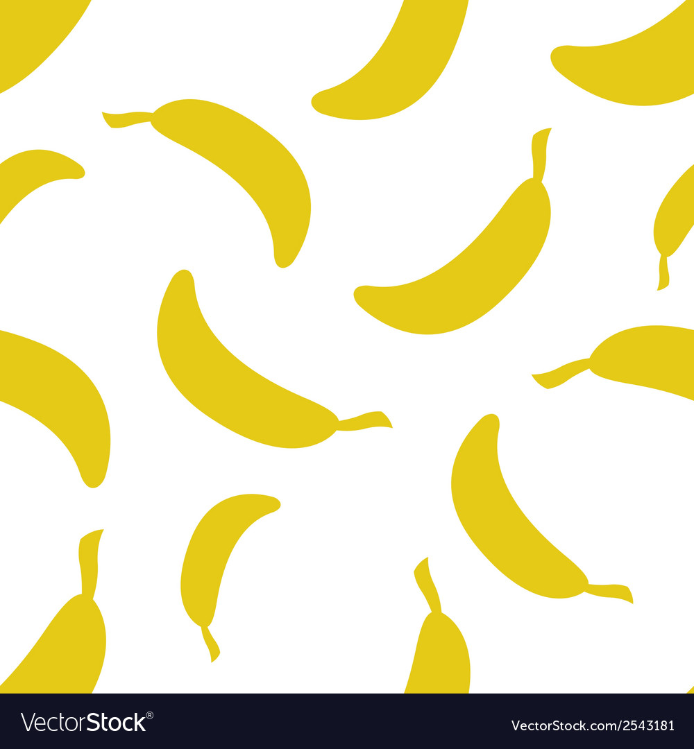 Pattern silhouette bananas vector | Price: 1 Credit (USD $1)