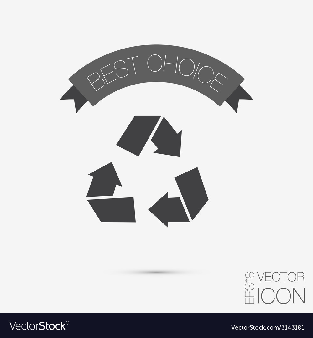Recycle sign isolated on white background vector | Price: 1 Credit (USD $1)