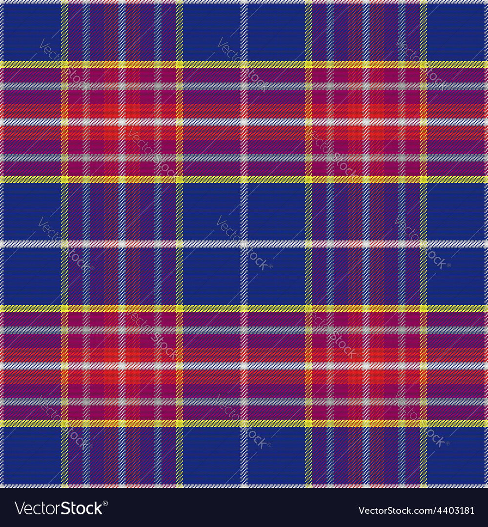 Seamless blue and red scottish tartan vector | Price: 1 Credit (USD $1)