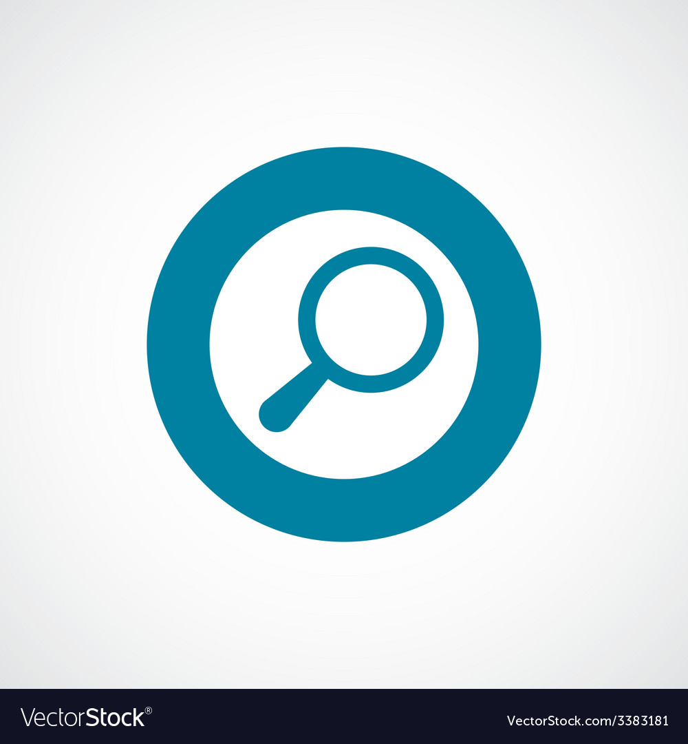 Search bold blue border circle icon vector | Price: 1 Credit (USD $1)