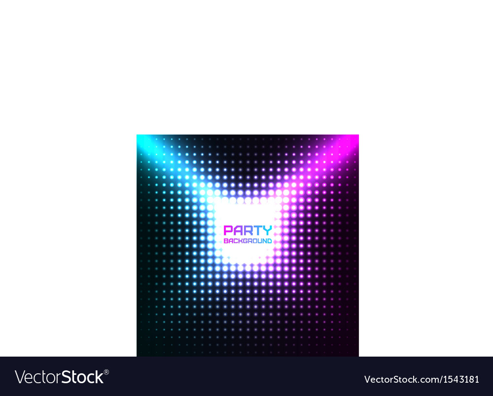 Shiny disco party background design vector | Price: 1 Credit (USD $1)
