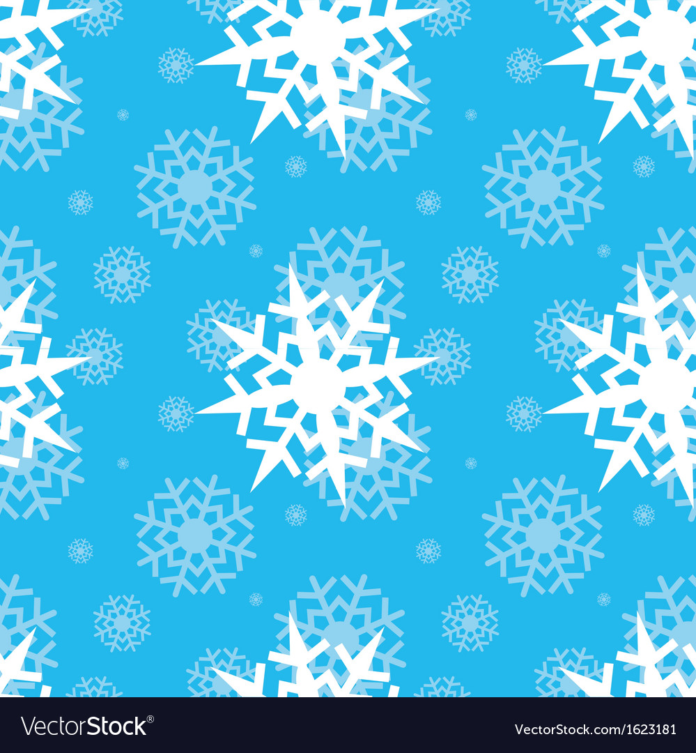 Snowflakes on blue sky vector | Price: 1 Credit (USD $1)