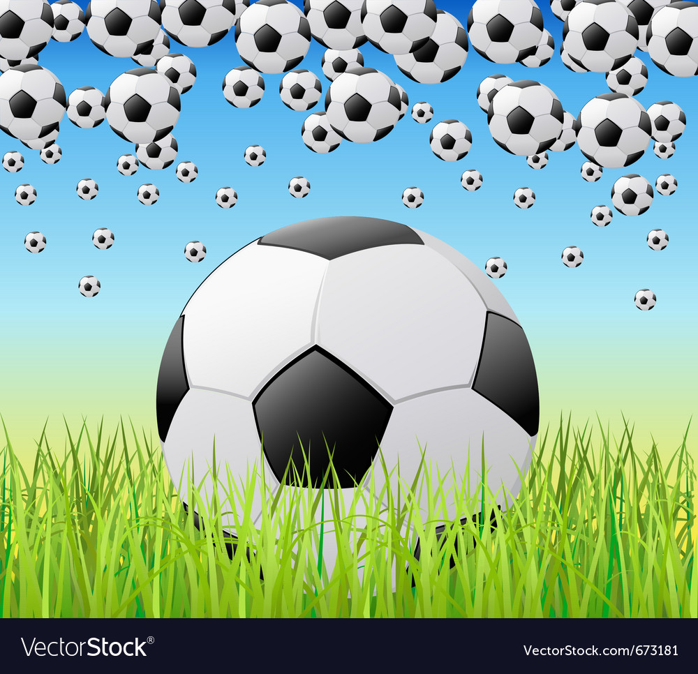 Soccer balls vector | Price: 1 Credit (USD $1)