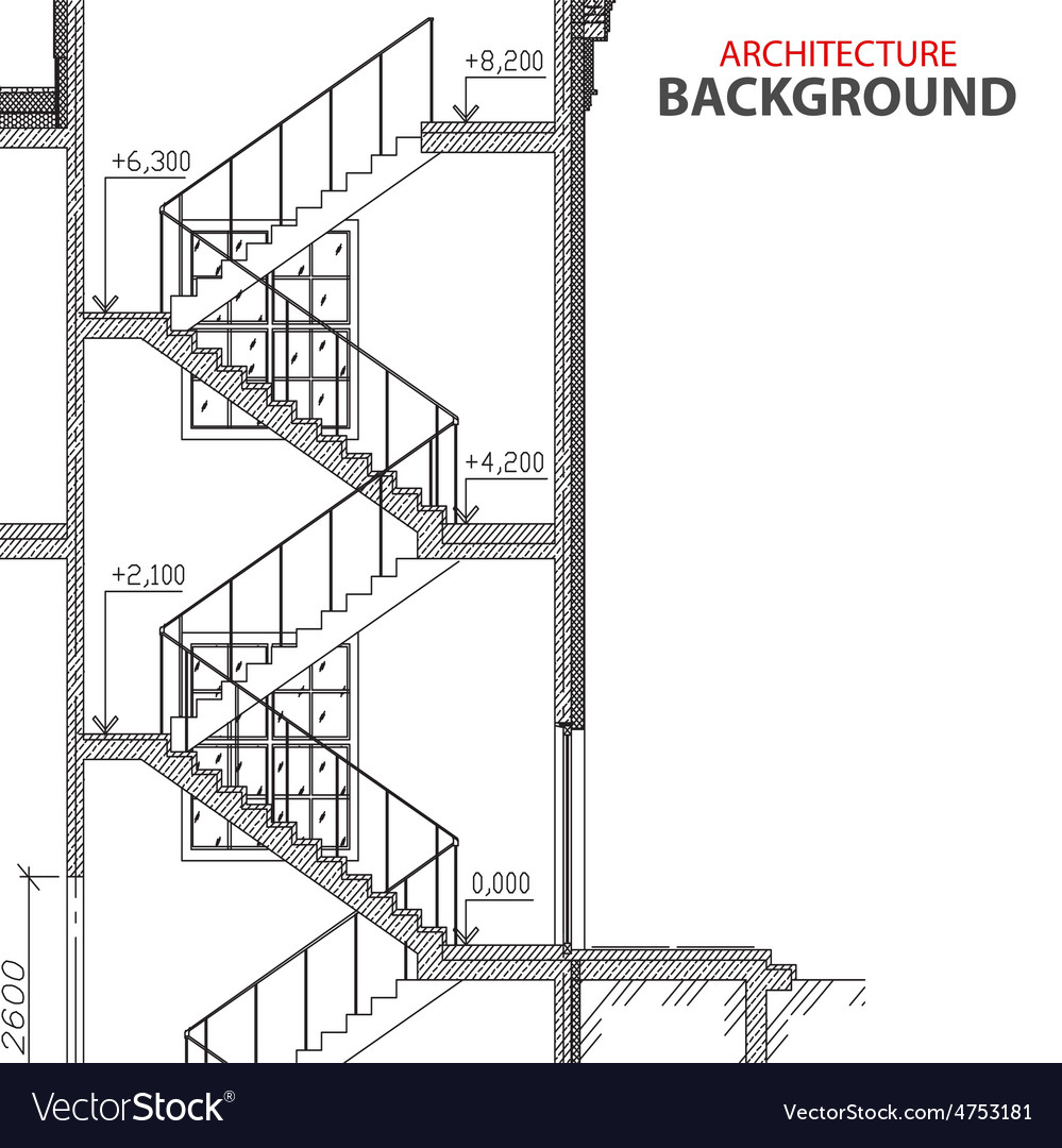 Stairs architecture background vector   Price: 1 Credit (USD $1)