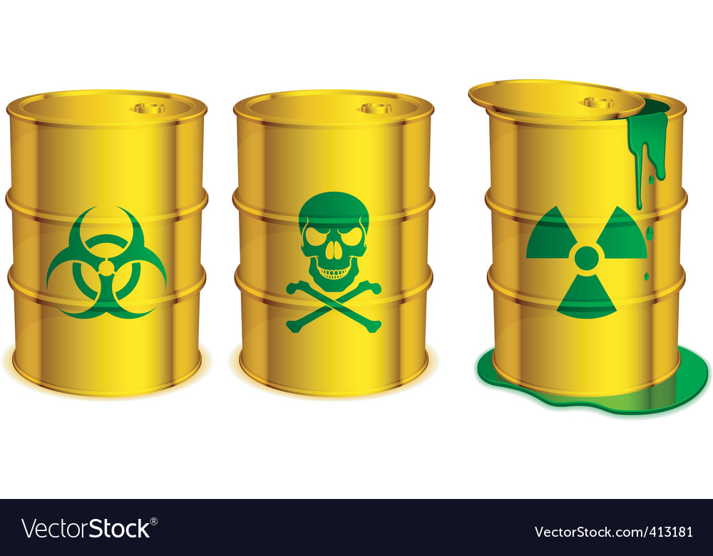 Toxic barrels vector | Price: 1 Credit (USD $1)