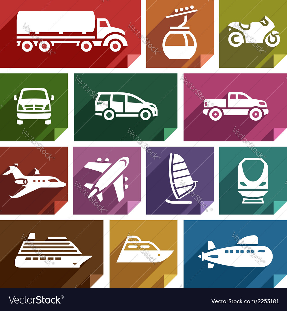 Transport flat icon-07 vector | Price: 1 Credit (USD $1)