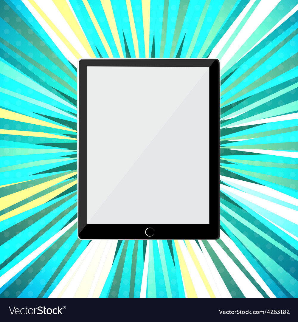 Abstract tablet pc vector | Price: 1 Credit (USD $1)