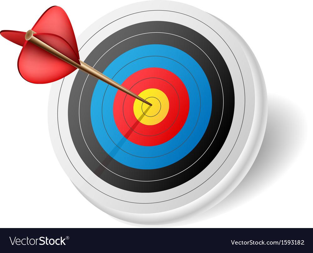 Arrow in target vector | Price: 1 Credit (USD $1)