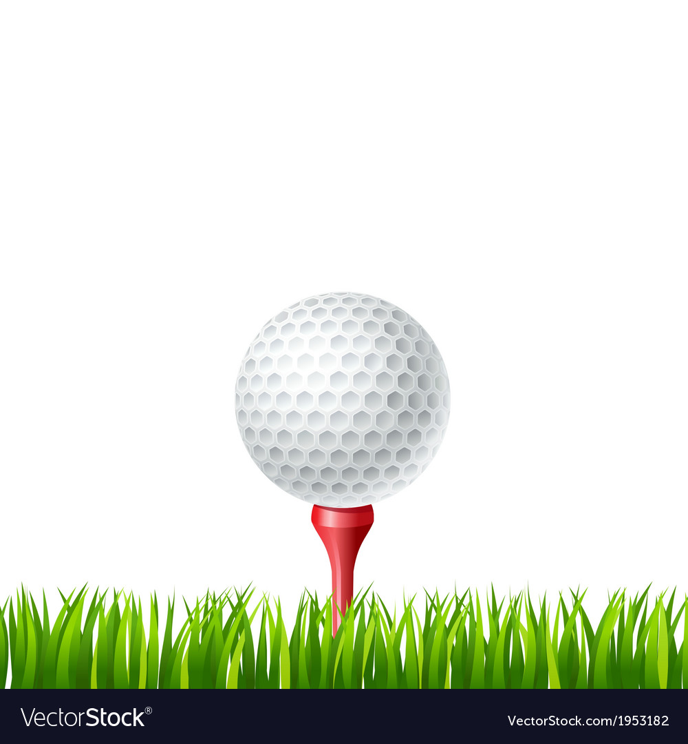 Golf ball on a tee vector | Price: 1 Credit (USD $1)