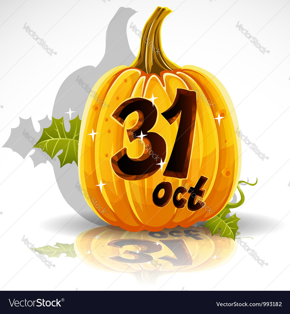 Halloween october 31 background vector | Price: 1 Credit (USD $1)