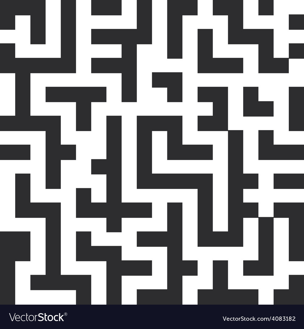 Labyrinth seamless pattern the black lines on vector | Price: 1 Credit (USD $1)