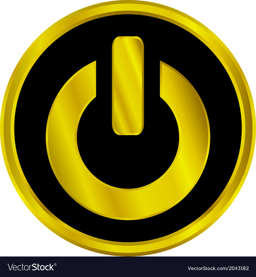 Power sign button vector | Price: 1 Credit (USD $1)