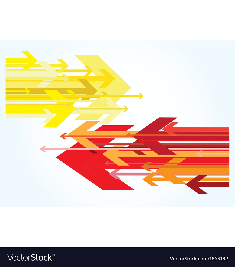 Red and yellow arrows vector