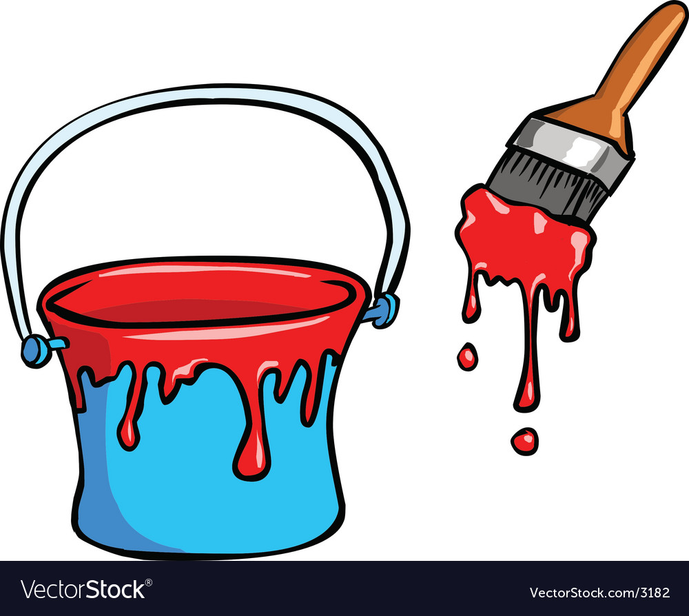 Red paint dye vector | Price: 1 Credit (USD $1)