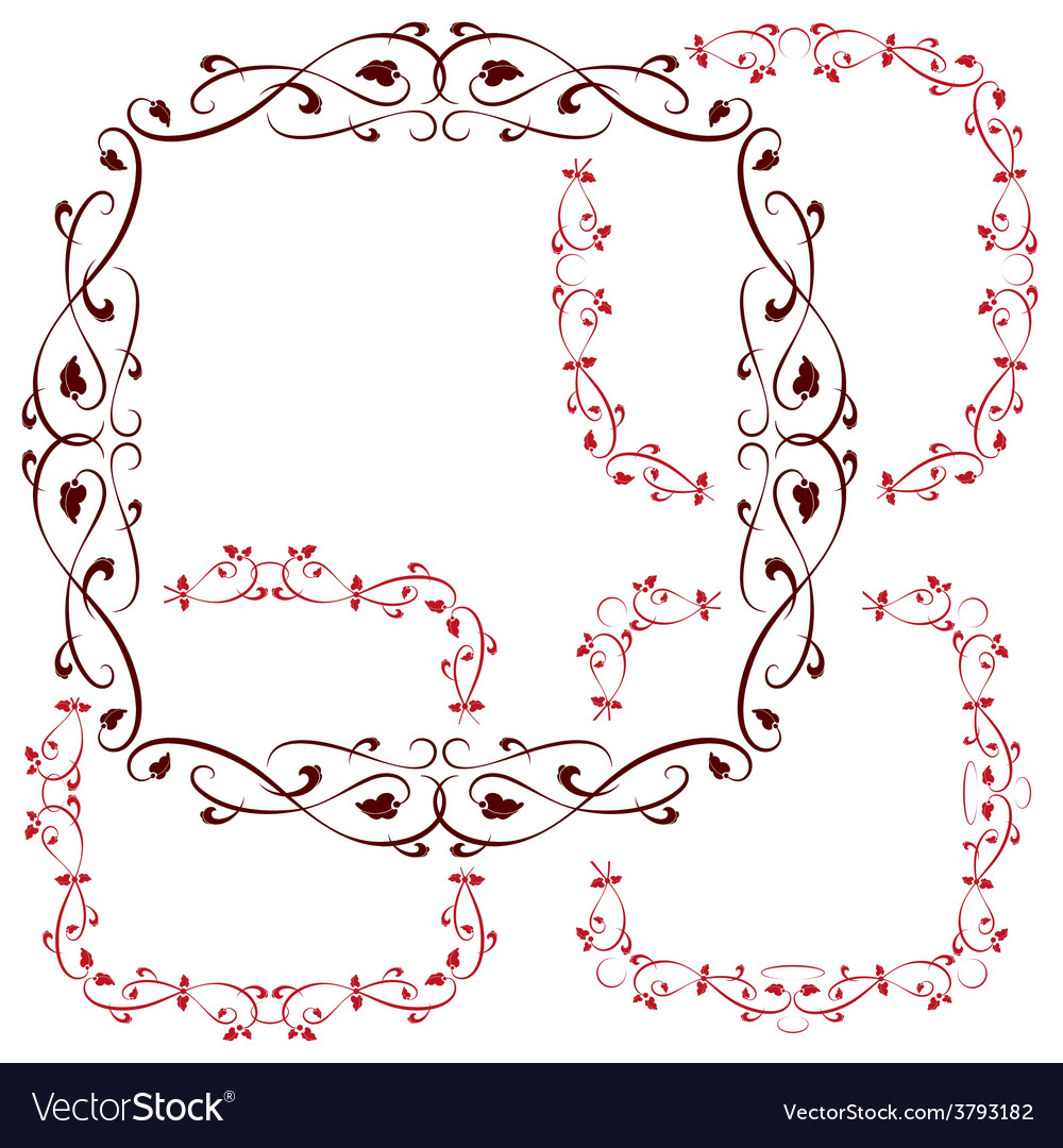 Set of vintage retro frames vector | Price: 1 Credit (USD $1)